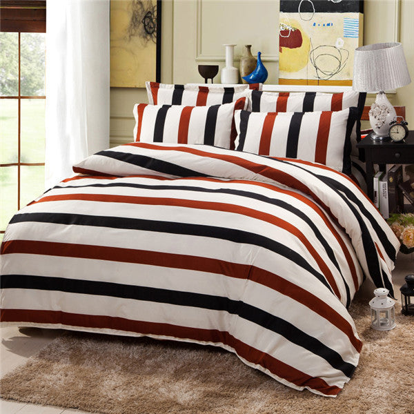 Costbuys  100% Polyester Bedding Set Duvet Cover Flat Sheet Bed Sheet Pillowcase Twin Full Qing King Size - luohunshidai / Full
