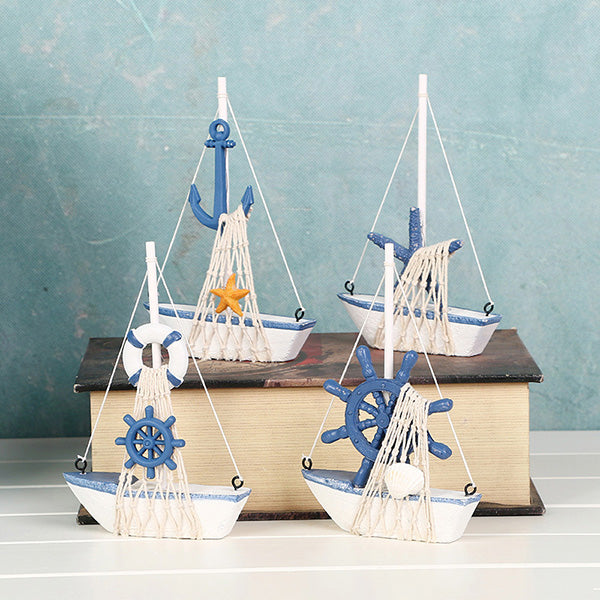 Costbuys  Mediterranean Style Home Decor Accessories Boat Sailing Ship Bar Handicraft Furnishing Articles Gifts Crafts Miniature