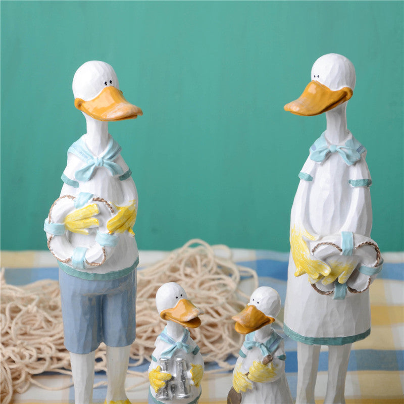 Costbuys  Mediterranean style  Navy duck Decoration Resin Crafts Gifts Home Decoration Furnishings Living Room Ceramic Crafts St