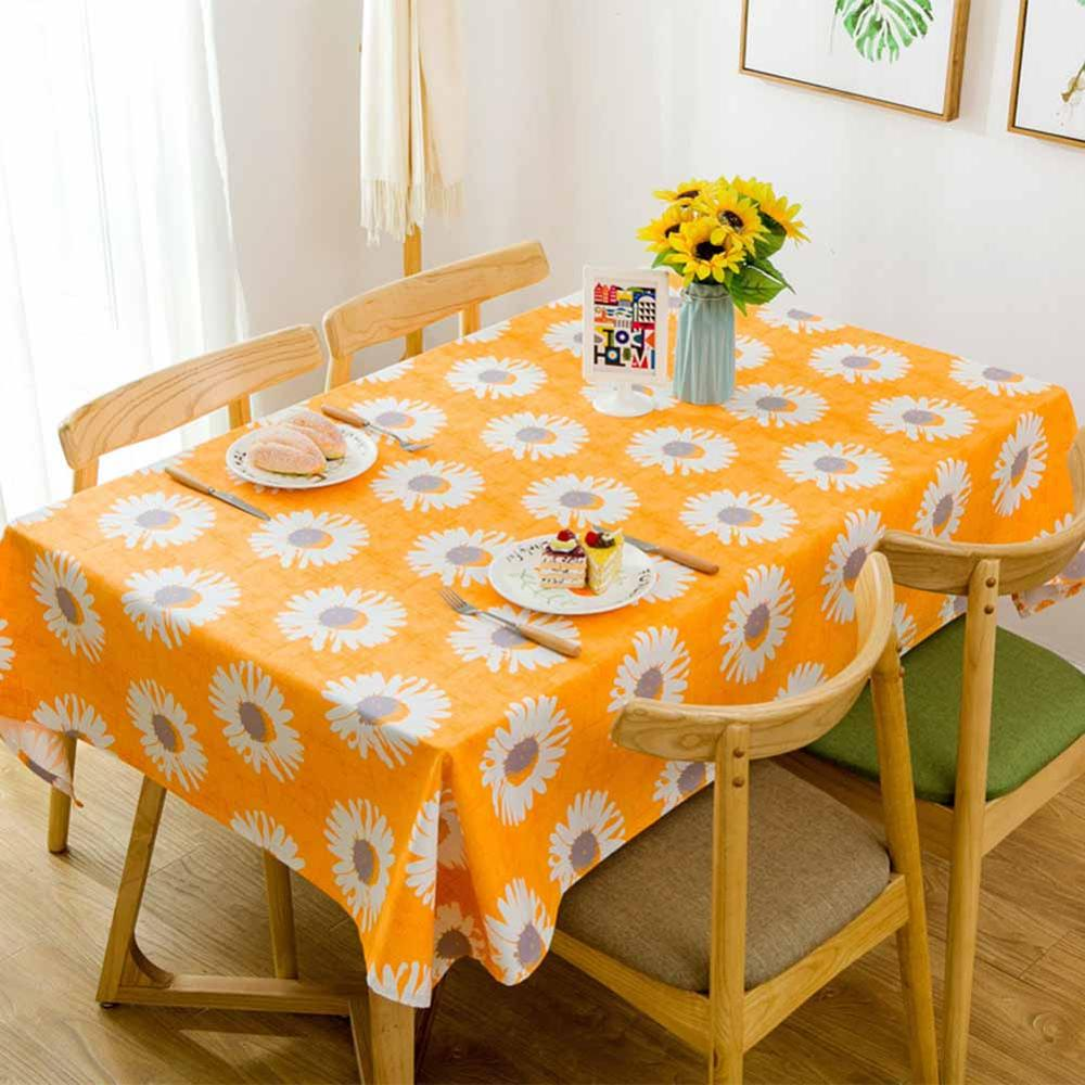 Costbuys  Tablecloth Cotton Sample Printed Table Cover Canvas Sunflower Coffee Table Cloth For Home Restaurant Party Decoration