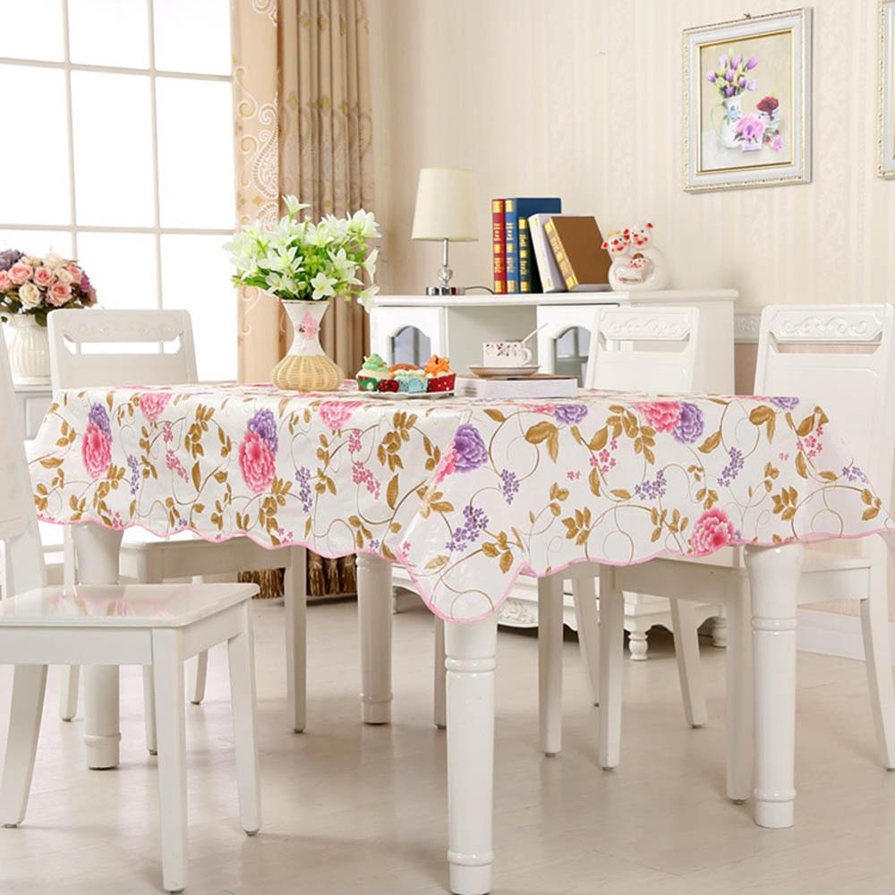 Costbuys  Tablecloth PVC Plastic Disposable Table Cover Waterproof And Oil-proof Table cloth For Home Party Restaurant Decor - A