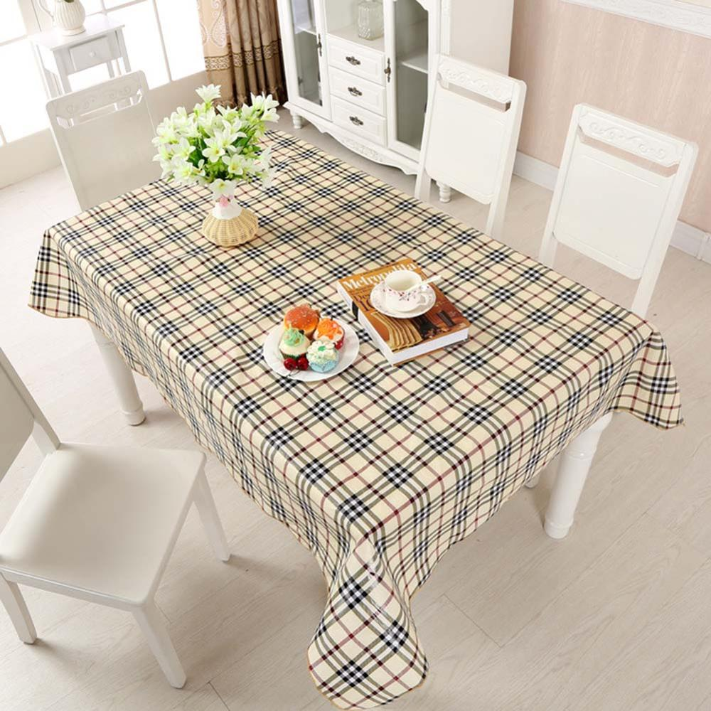 Costbuys  Tablecloth PVC Plastic Disposable Table Cover Waterproof And Oil-proof Table cloth For Home Party Restaurant Decor - B