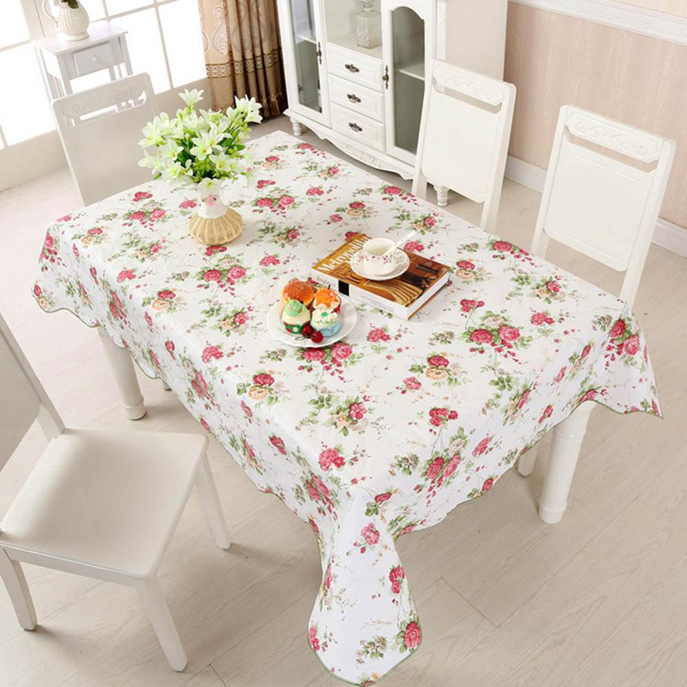 Costbuys  Tablecloth PVC Plastic Disposable Table Cover Waterproof And Oil-proof Table cloth For Home Party Restaurant Decor - E