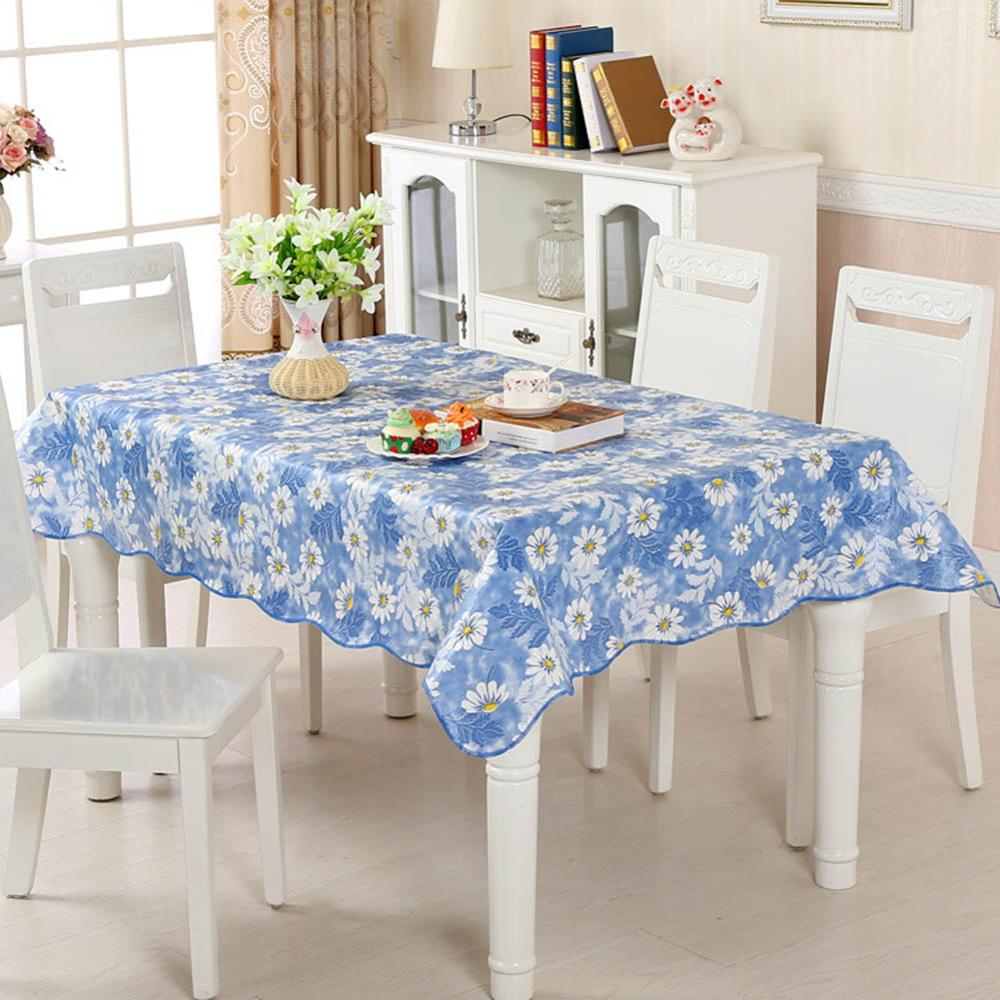 Costbuys  Tablecloth PVC Plastic Disposable Table Cover Waterproof And Oil-proof Table cloth For Home Party Restaurant Decor - D