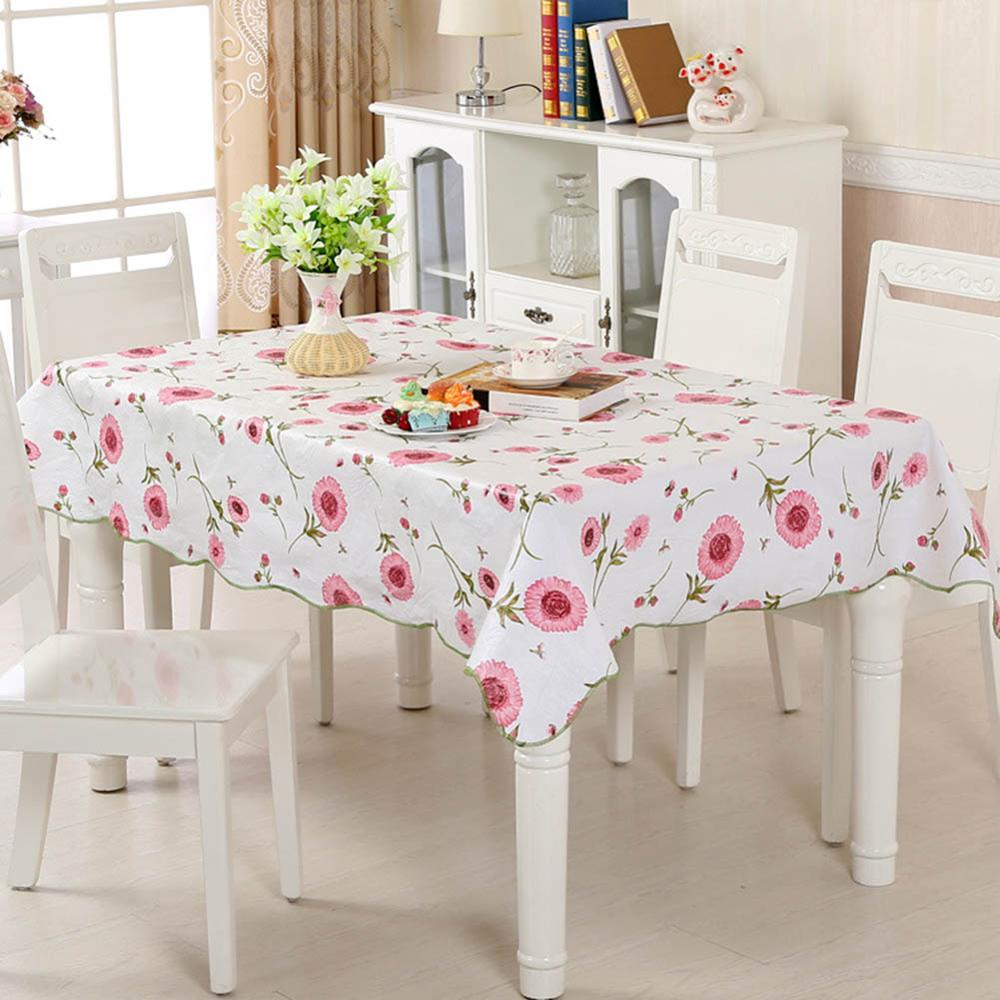 Costbuys  Tablecloth PVC Plastic Disposable Table Cover Waterproof And Oil-proof Table cloth For Home Party Restaurant Decor - C