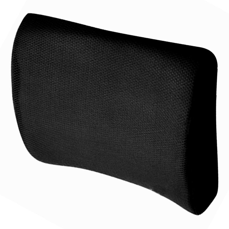Costbuys  Memory Foam Seat Chair Lumbar Back Support Cushion Pillow For Office Home Car black