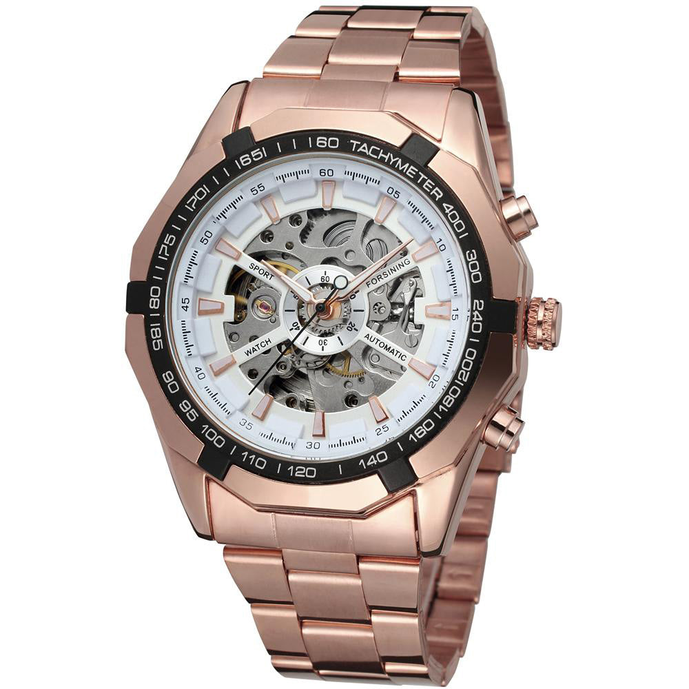 Men classic skeleton automatic mechanical watch gold skeleton vintage costbuys for Classic skeleton watch