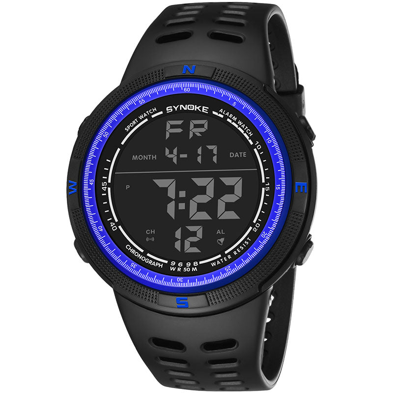 Costbuys  Men Digital Watches Outdoor Sports Students Watch Waterproof Electronic Watches Male Clock LXH - Blue