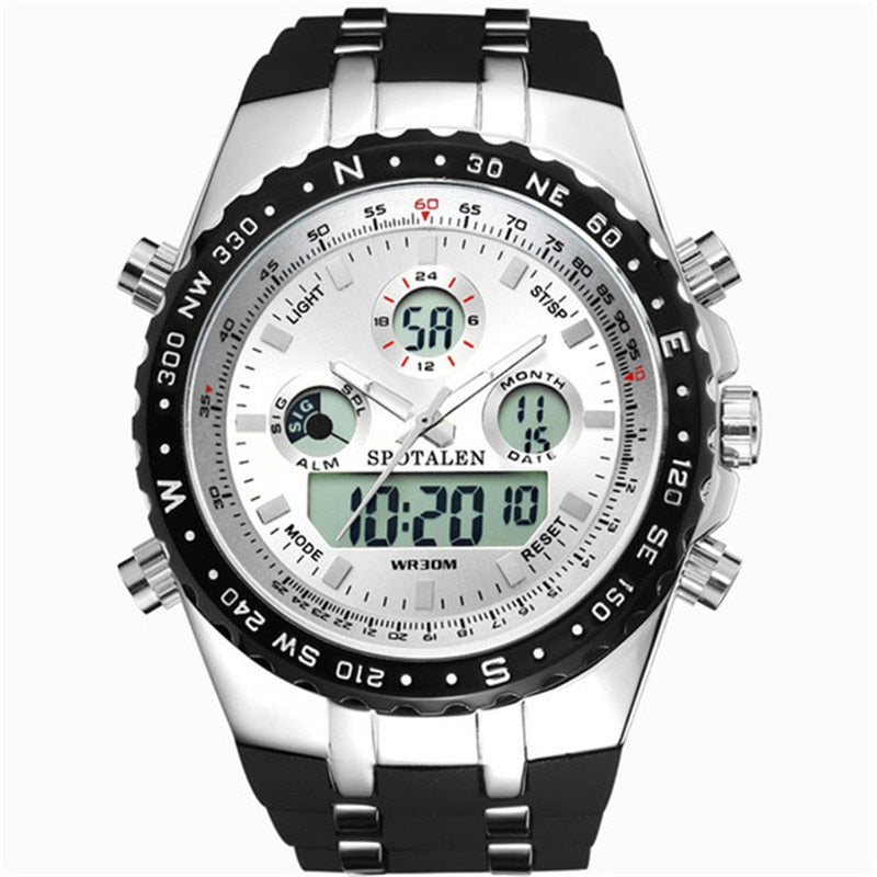 Costbuys  Men Sport Digital Watches LED Display Digital Wristwatches Waterproof Dual Display Men's Military Army Quartz Relogios