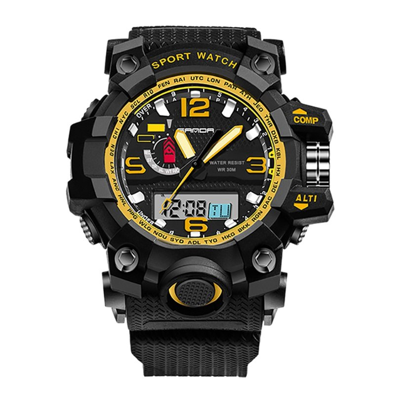 Costbuys  Men Women Digital Watch Multi Function 30 Meter Water Resistant Back Light Luminous Stopwatch Alarm Sports Watches - G