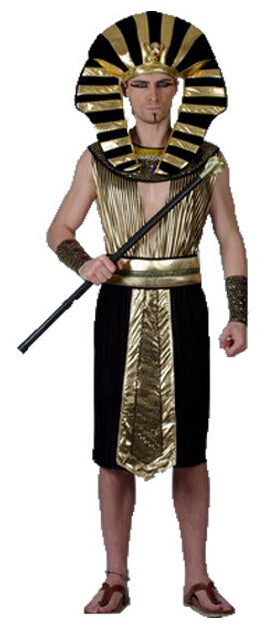 Costbuys  Men Women Egyptian Pharaoh Costumes Cosplay Adults King Costume For Children's Day Halloween Holiday Fancy Dress - Egy