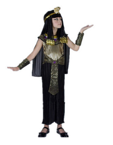 Costbuys  Men Women Egyptian Pharaoh Costumes Cosplay Adults King Costume For Children's Day Halloween Holiday Fancy Dress - Gir