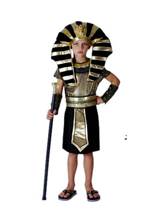 Costbuys  Men Women Egyptian Pharaoh Costumes Cosplay Adults King Costume For Children's Day Halloween Holiday Fancy Dress - Boy