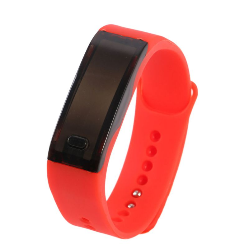 Costbuys  Men and Women LED Bracelet Watch Sport Wrist Watches Fashion Relogio Mens/Womens Digital Watches - Red