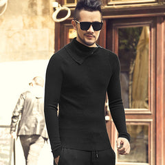 5958714a9f Men new arrival winter slim woolen cotton zipper turtlneck sweater  metrosexual men casual top quality knitted