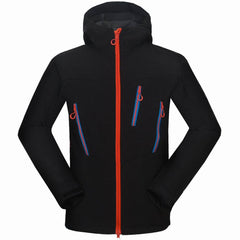 Men's Softshell Hiking Jackets Camping Hiking Cycling Outdoor Autumn Winter Sport Coats Waterproof Windproof Male Jacket S-2XL
