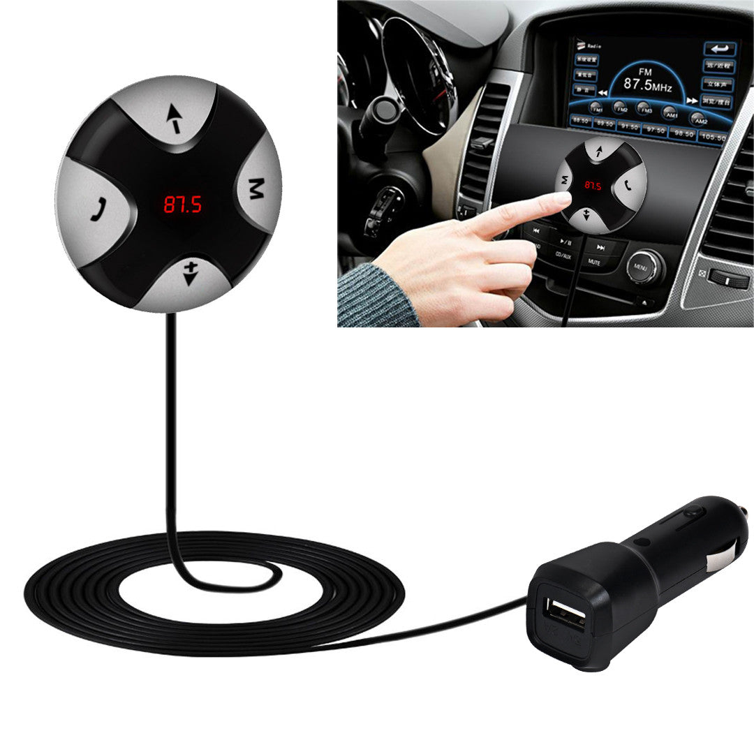 Costbuys  Mini Bluetooth Car Kit Mp3 Player Hands free Wireless Bluetooth 4.0 FM Receiver 3.5mm AUX Audio Player For Mobile Phon