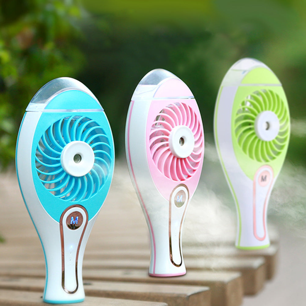 Costbuys  Mini Handheld USB Spray Humidifier Portable Air Conditioning Ventilador Rechargable Cooling Fan Office/Home/Car Use US