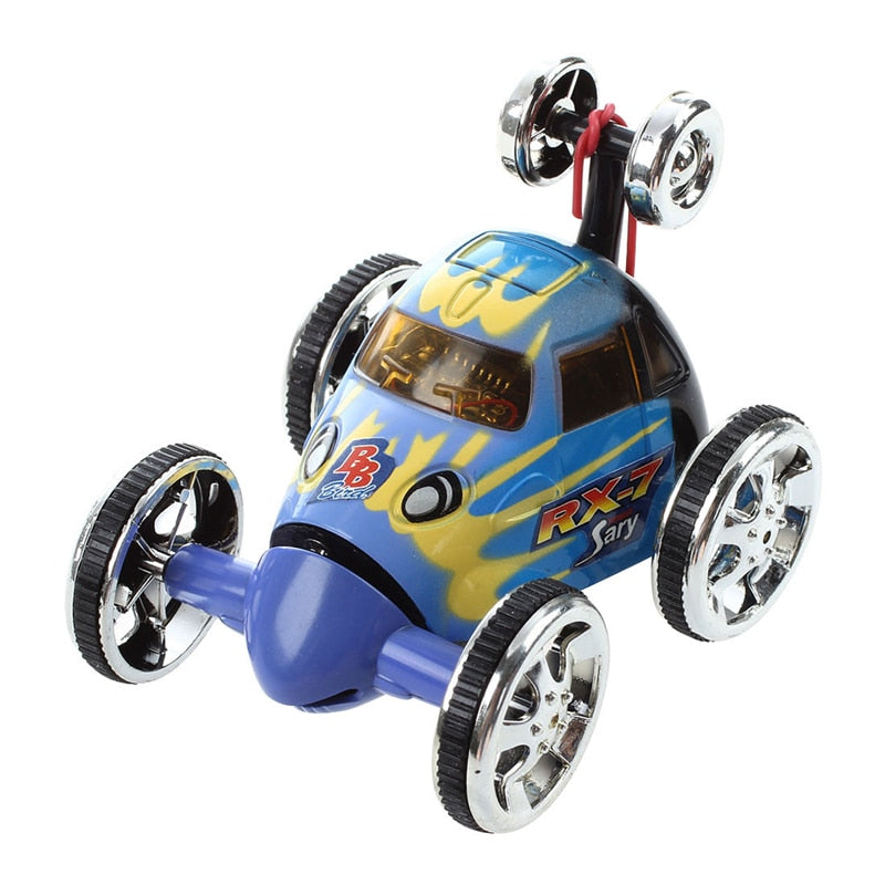 Mini Led RC 360-degree Stunt Car Wheelie Remote Control Toy Drift Model Rotating Wheel Vehicle Birthday Christmas Gift