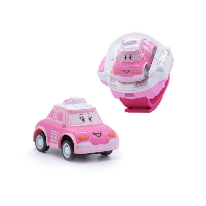 Costbuys  Mini RC Car Gesture Control Radio Watch Controller Gravity Sensor Remote Control Car Toys For Children Gift - Pink