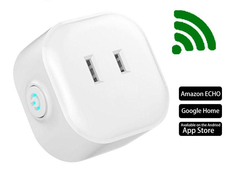 Costbuys  Mini Smart Wifi Socket US Plug Remote Control Power Strip Timing Switch for Smart Home Automation Electronic System
