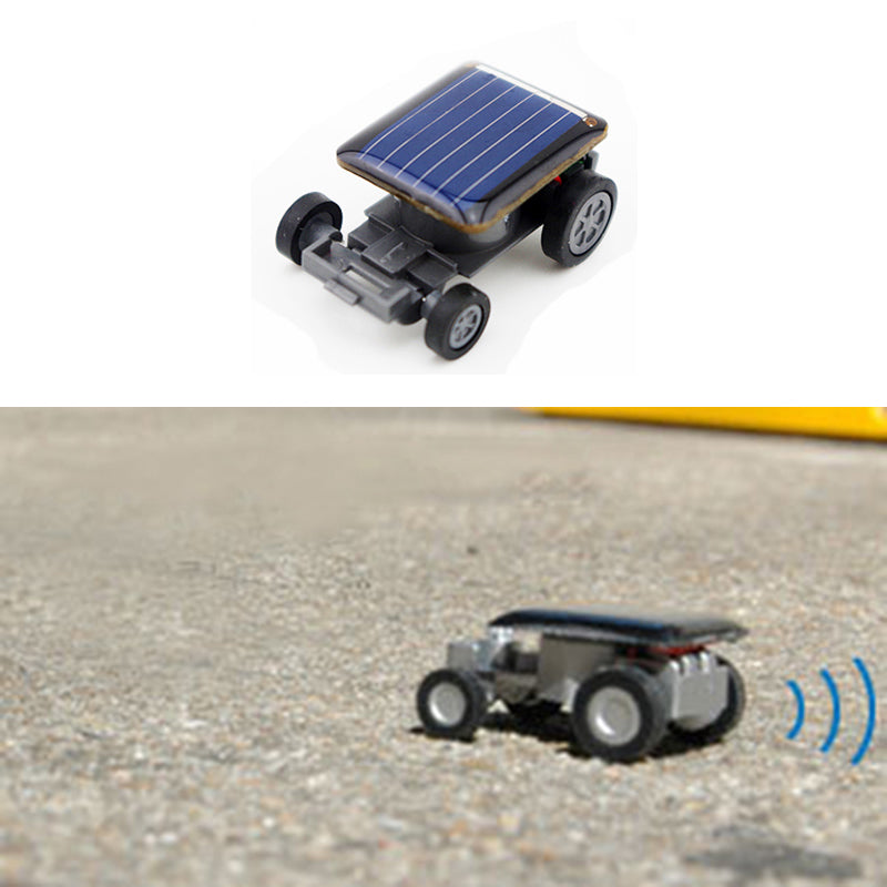 Costbuys  Mini Solar Powered Car Model Sunlight Novelty Toys Kit Gadgets Educational Baby Kids Toy for Children Strange Black