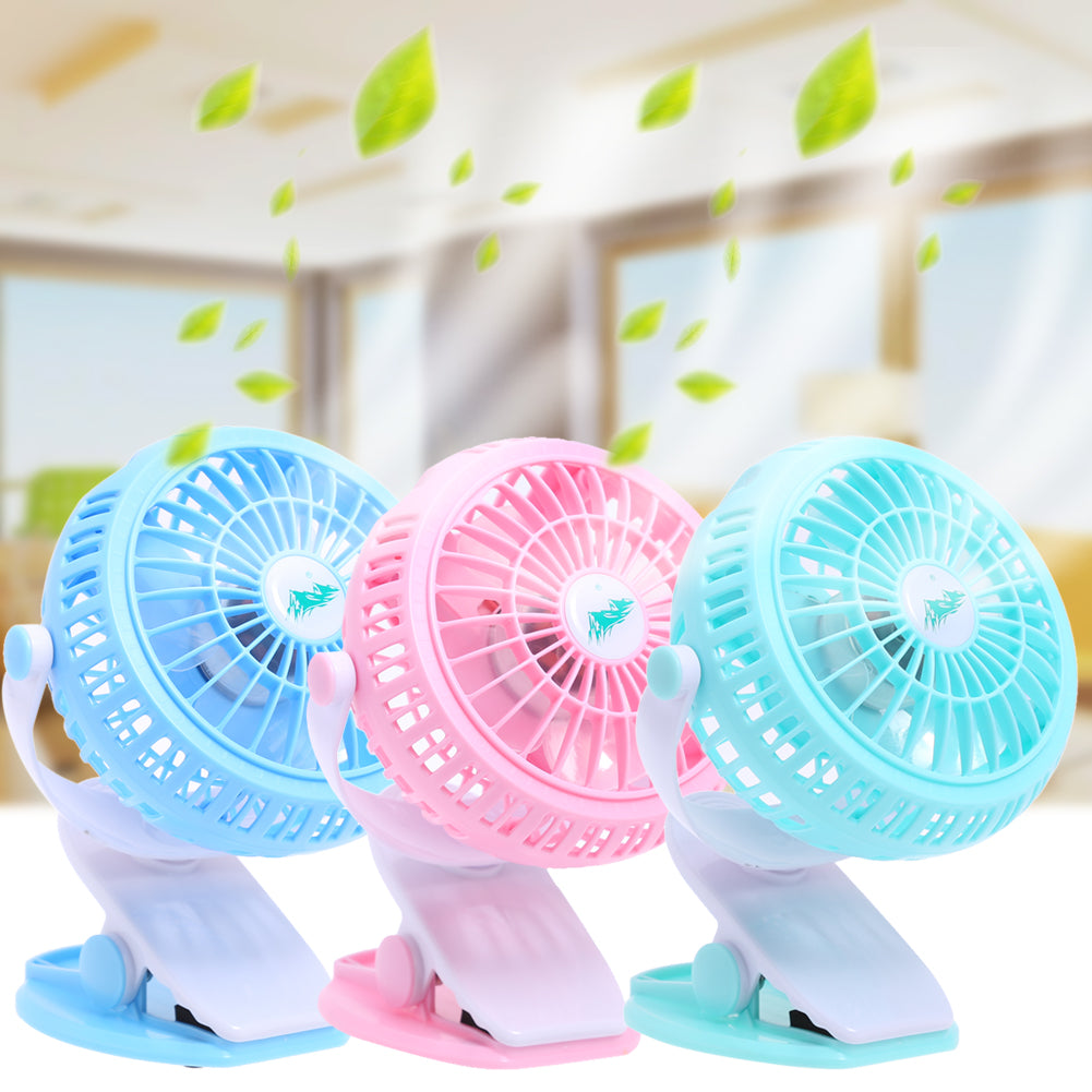 Costbuys  Mini Usb Fan 360 Ratation Stroller Cooling Fan Small Portable Mute Silent Desktop Clip-on Ventilador for Office Car US