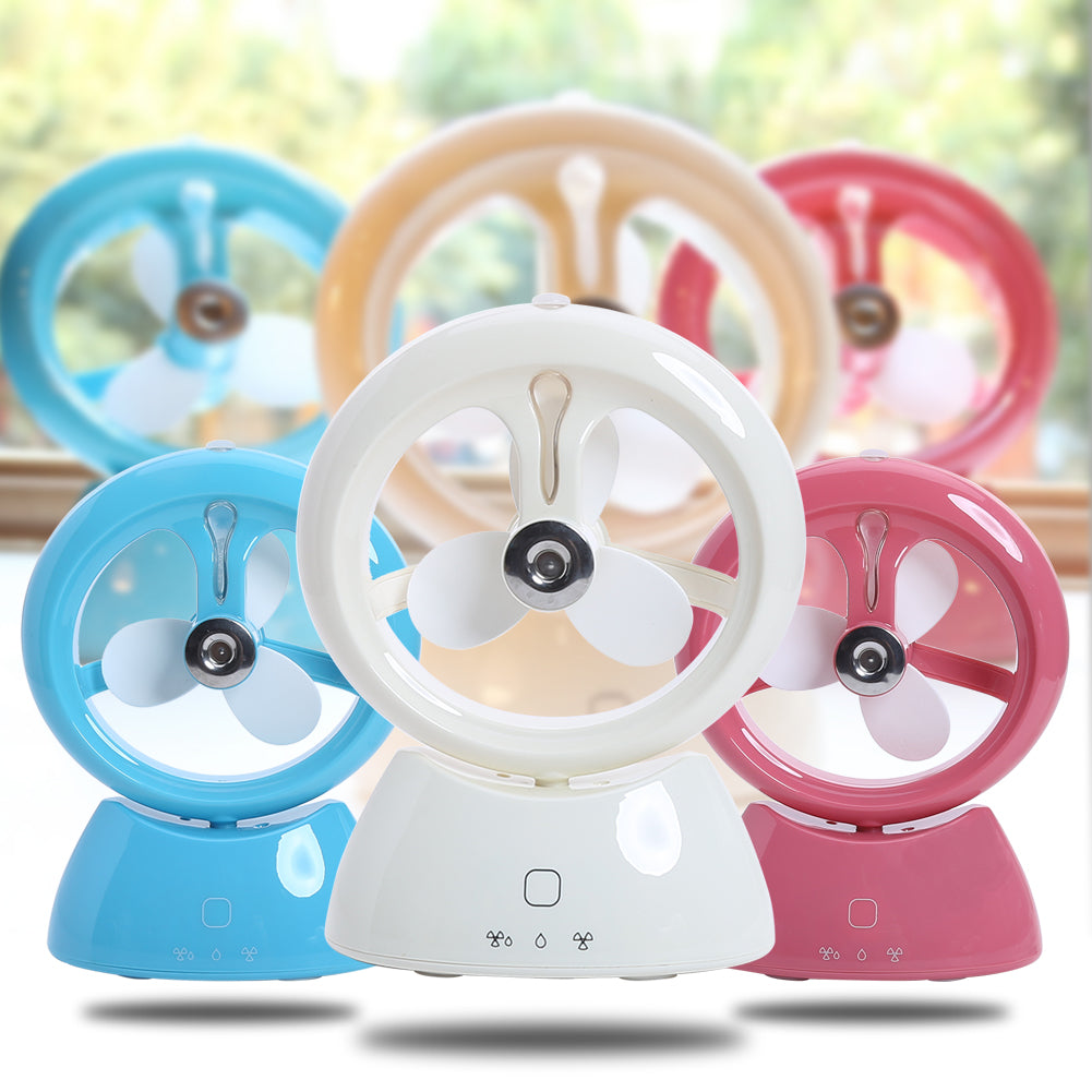 Costbuys  Mini Water Spray Humidifier Fan USB Small Cooling Fan Water Wizard Touch Switch Rechargable Mist Ventilador Office Hom