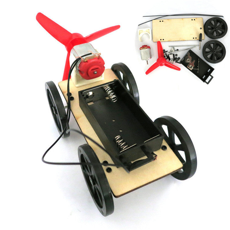 Costbuys  Mini Wind Powered Toy DIY Car Kit Children Educational Gadget Hobby Funny