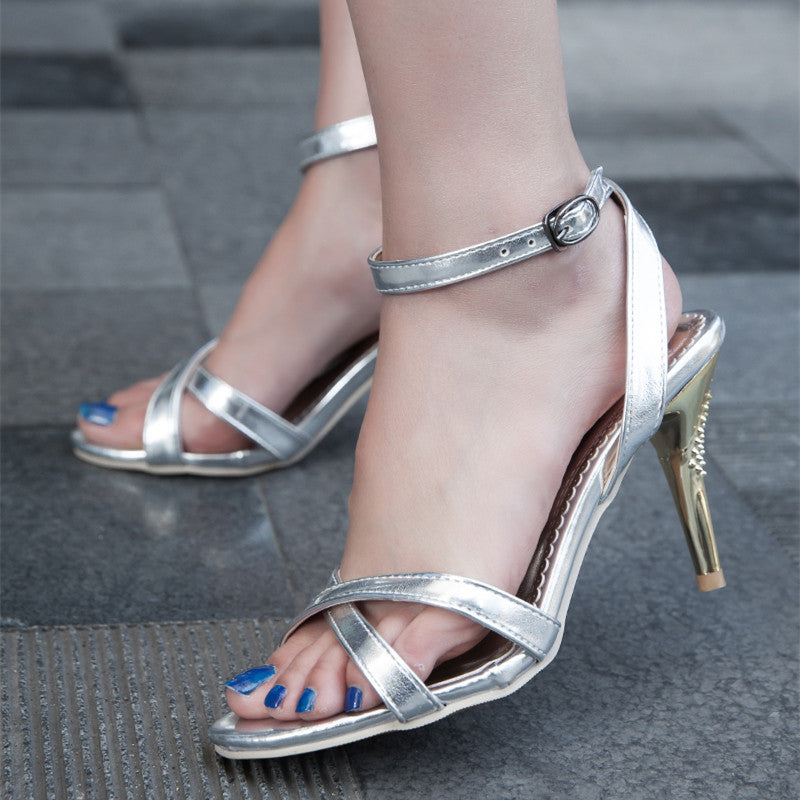 f1ecdbba0114 Fashion Women Sandals Sexy Thin High Heels Ankle Strap Band Open Toes –  Costbuys