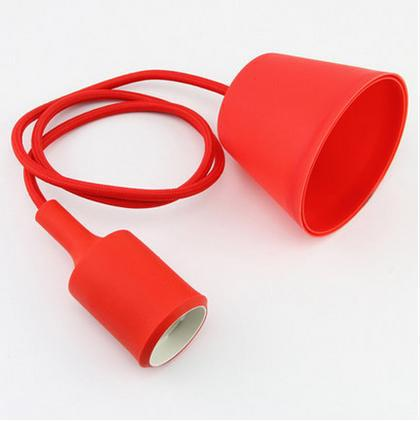 Costbuys  Modern Colorful braided cable Silicone Pendant Lights E27 Lamp Holder 90-260V hanging Light For Home Decoration Lovely