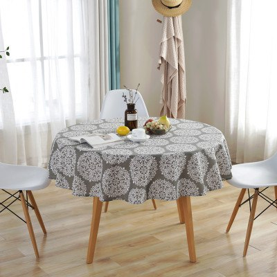Costbuys  Modern Table Cloth Round Tablecloth Nappe Table Cover Party Wedding Table Cloth for Home Table Decoration Manteles Hom