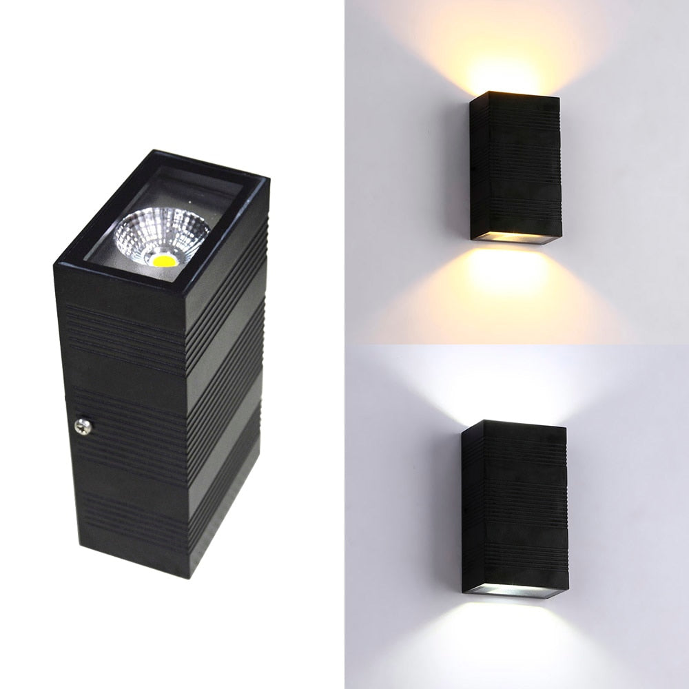 Modern Waterproof COB exterior lights outdoor LED wall lamp IP65 Aluminum Wall Lights Garden porch Sconce Decoration Light