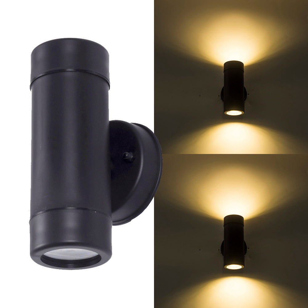 Costbuys  Modern up down LED Outdoor Wall Light Waterproof IP65 Wall Lamp AC porch outdoor lighting - no include bulb / Black