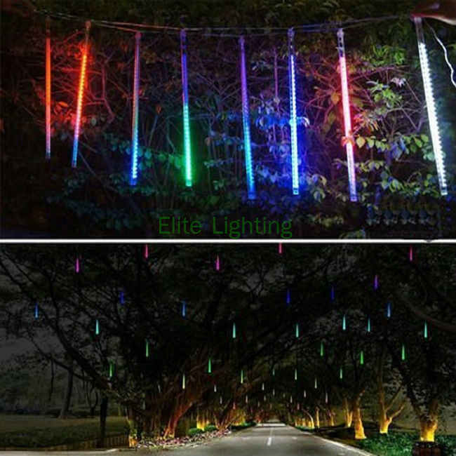 multi color 30cm meteor shower rain tubes ac100 240v led christmas lights wedding party