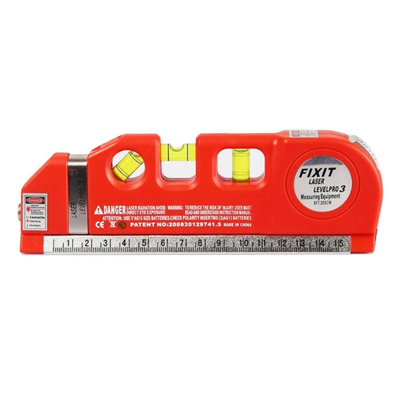 Costbuys  Multi-functional Infrared Laser Level Ruler Horizontal Meter Tape Scale Measure Instrument Vertical Measure Equipment