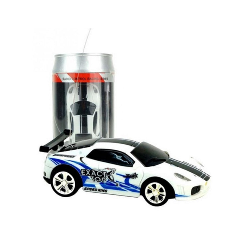 Costbuys  Multicolor Coke Can Mini Speed Sport Car RC Radio Remote Control Vehicle Micro Racing Car Toy Gift For Child-random -