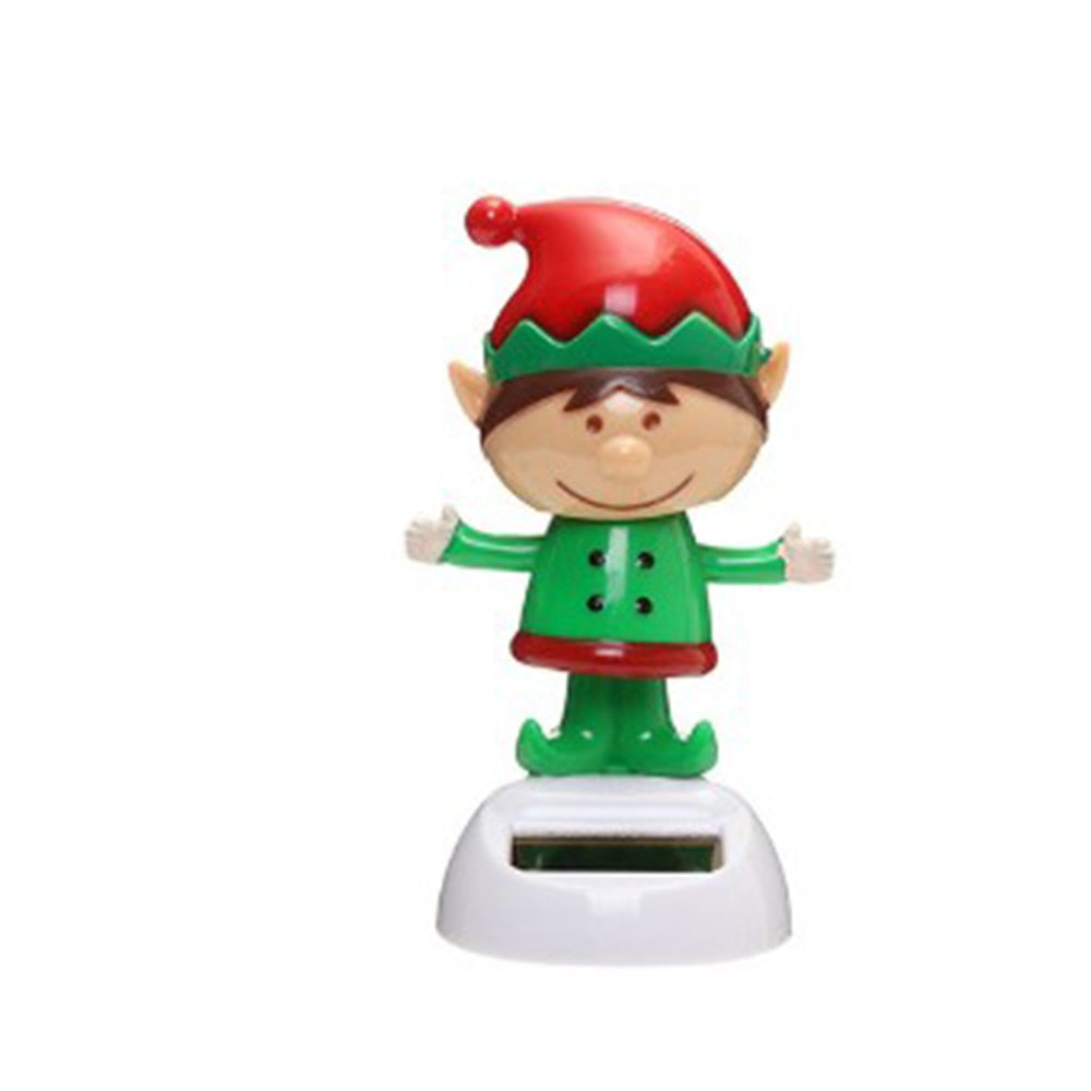 Costbuys  Mutichoices Cute Solar Powered Dancing Swinging Bobble Doll Toy Car Christmas Home Decoration Car styling - 9