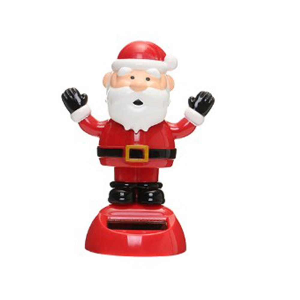 Costbuys  Mutichoices Cute Solar Powered Dancing Swinging Bobble Doll Toy Car Christmas Home Decoration Car styling - 1