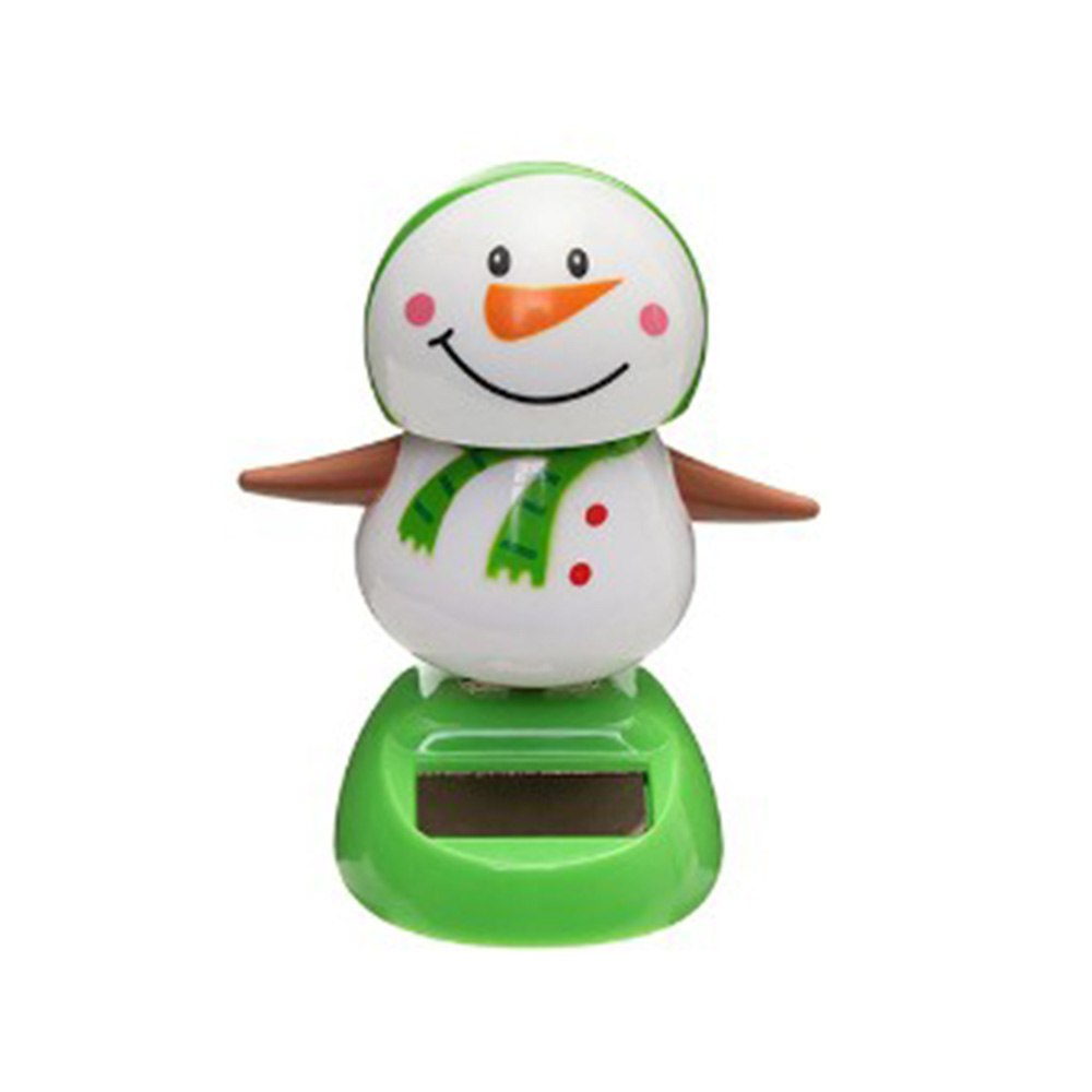 Costbuys  Mutichoices Cute Solar Powered Dancing Swinging Bobble Doll Toy Car Christmas Home Decoration Car styling - 5