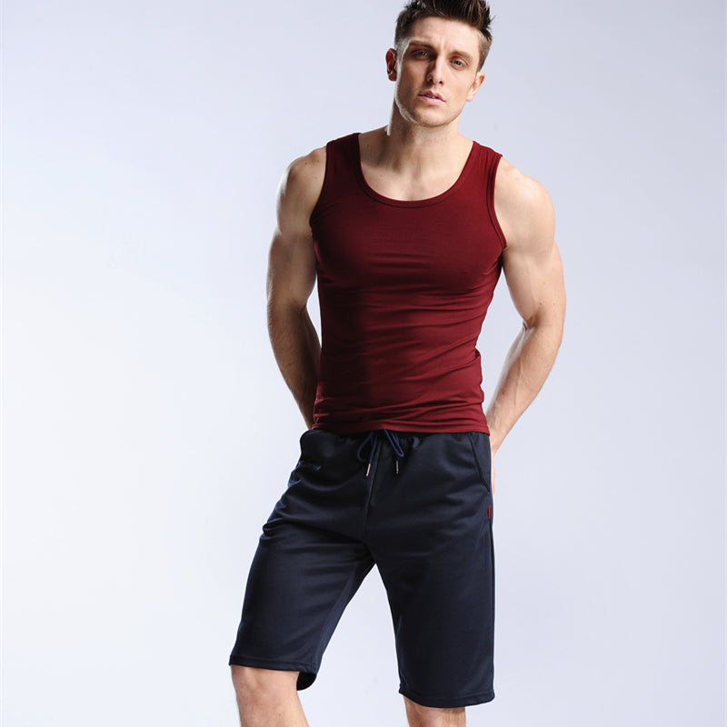Costbuys  Summer Mens Jogger Sporting Thin Shorts Men Bodybuilding Short Pants Male Fitness Gyms Shorts for workout - Navy / XXL