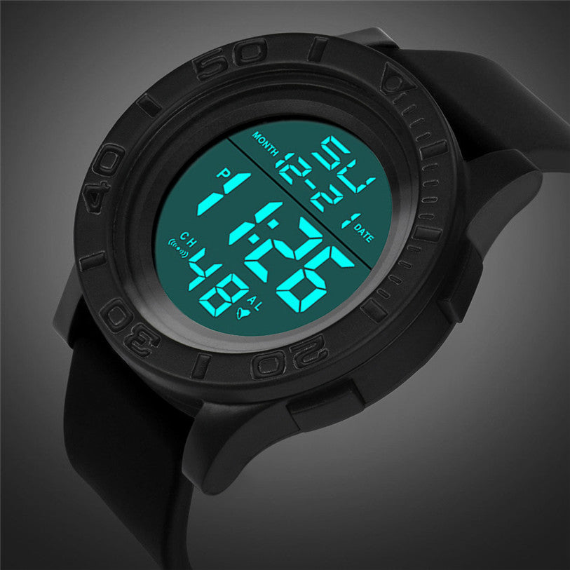 Costbuys  NEW Fashion Men's LED Digital Date Countdown Timer Sport Quartz Wrist Watch relojes hombre - Black