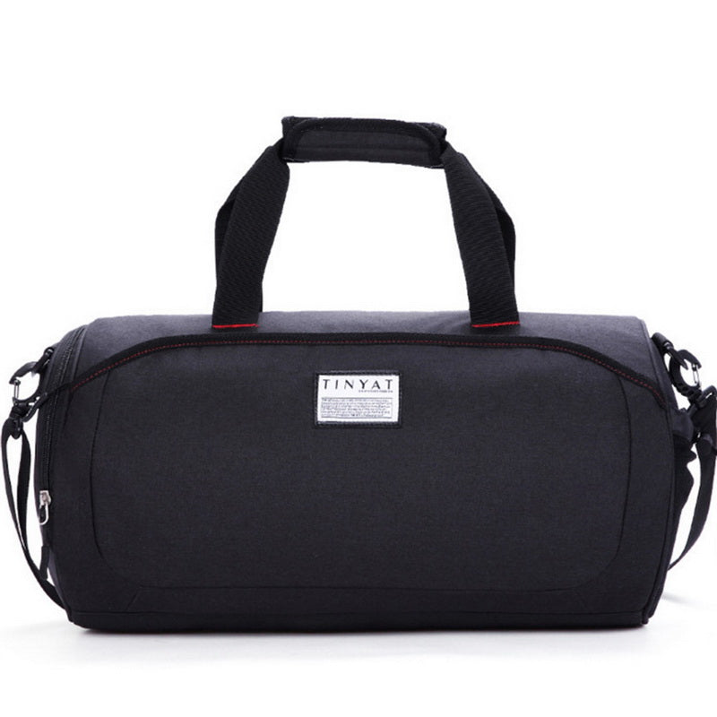 Costbuys  Large Capacity Travel Bag Men Leisure Zipper Men Travel Bag Luggage Business Fashion Solid Man Duffle Bag Suitcase - B