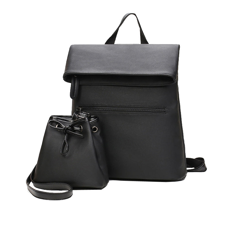a9463f125db6 Simple Backpack Women Leather Shoulder Bag For Teenage Girl Fashion Sc –  Costbuys