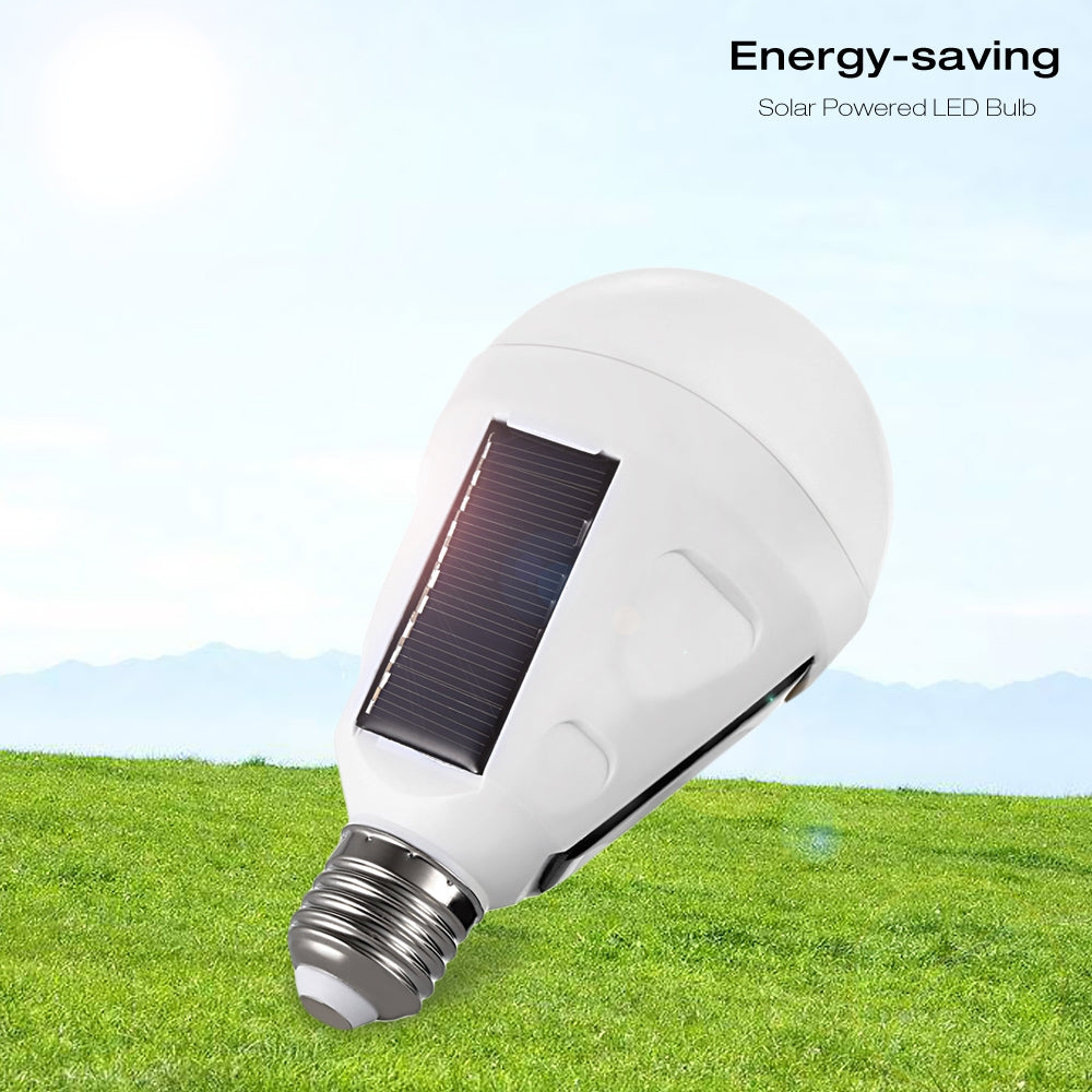 New 12w E27 Solar Panel Hook Switch Led Bulb Emergency Light 5730 With 18650 Battery For