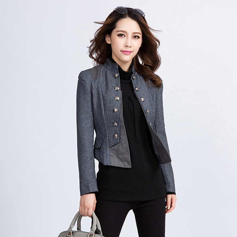 e1cb49245e4e4 Vintage Women Blazers And Jackets Spring Autumn Ladies Suit Slim Short Coat  Blazer Female Blaser Plus Size XXL