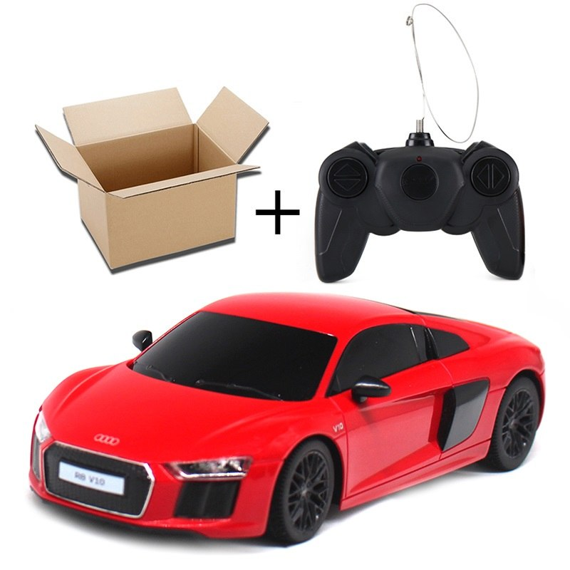 Costbuys  New Arrival 1:24 Electric RC Car Toys For Boys Girls Remote Control Toys Radio Control Cars Kids Gift Audi R8 V10 7230