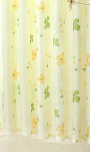 New Arrival Blue /Green /Gray Window Curtain For Living Room Floral Kitchen  Curtains For Summer