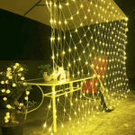 Waterproof 220V Led Net Mesh String Light Xmas Christmas Lights Decor Light Garden Wedding Holiday Lighting