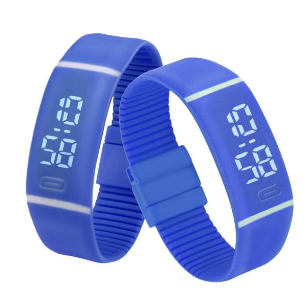 Costbuys  Sports Bracelet LED unisex Watch Men Watch Fashion Digital Watch Date Time Women Wristwatch Gift 1pcs - B